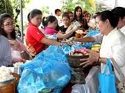 老挝越南侨胞2558佛历年的盂兰盆节