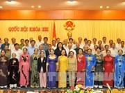 越南国会副主席会见广义省老爱国囚犯代表团