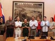 越南人民军总参谋长会见古巴革命武装力量部代表团