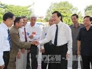 张晋创主席出席宁平省被捕入狱革命老战士协会第三次会议