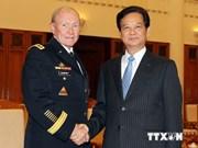 越南政府总理会见美国三军参谋长联席会议主席