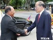 柬埔寨国会主席结束对越南的正式访问