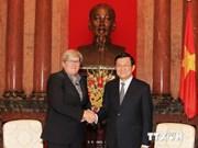 越南国家主席张晋创会见世行可持续发展副总裁