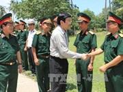 越南国家主席张晋创莅临坚江省土珠岛乡调研