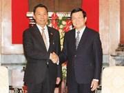 越南国家主席张晋创会见缅甸联邦议会议长