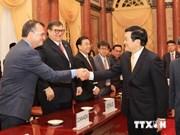 张晋创主席会见出席APEC第六届人力资源开发部长级会议代表团团长