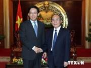 越南国会主席接见中国新任驻越大使