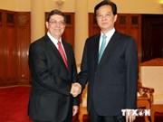 越南政府总理阮晋勇会见古巴外长