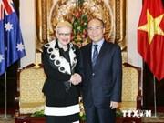 越南国会主席阮生雄同澳大利亚众议院议长举行会谈