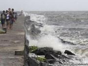 海鸥台风登陆菲律宾并继续快速移动
