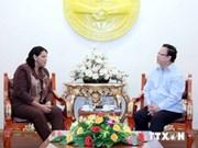 越南友好组织联合协会主席会见古巴国务委员会副主席