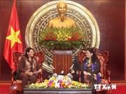 越南国会副主席会见来访的古巴国务委员会副主席