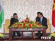 印度共和国总统访问越南胡志明市