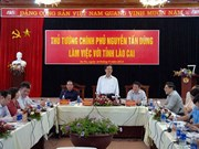 越南政府总理阮晋勇莅临老街省调研