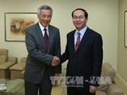 新加坡总理会见越南公安部部长陈大光