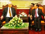 越南:河内市委书记范光毅会见新加坡前总理吴作栋