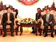老挝总理通辛·坦马冯希望老越经济合作深入发展