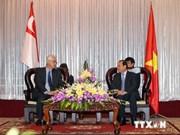 越南胡志明市领导人会见新加坡前总理吴作栋
