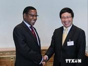 越南政府副总理兼外长范平明与各国代表举行双边会晤