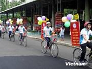 """胡志明市2000多名青年参加""""青年与交通文化""""联欢会"""