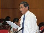 越南第13届国会常委会第31次会议:质询自然资源环境部长