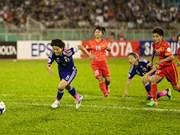 第17届亚运会:越南女足球队皆败于日本队