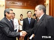 越南胡志明市领导会见古巴拉美社社长