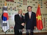 越共中央总书记阮富仲密集会见韩国高层领导人