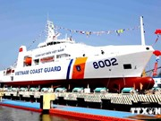 越南多功能海警船8002号成功下水