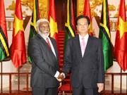 越南政府总理阮晋勇同瓦努阿图总理乔·纳图曼举行会谈