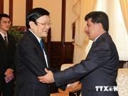越南国家主席张晋创会见卡塔尔驻越大使