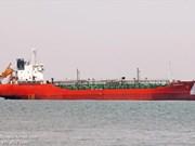被海盗劫持的越南SUNRISE689号油船即将抵达越南巴地巴地头顿省