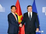 越南与欧盟发表联合声明决定加快《越南欧盟自由贸易协定》谈判进程