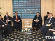 越南政府总理阮晋勇与欧盟委员会主席举行会谈