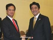 越南政府总理阮晋勇会见日本首相安倍晋三