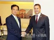 越南政府总理阮晋勇密集会见出席亚欧首脑会议的各国领导
