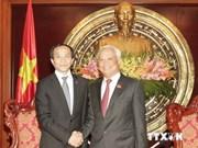 越南国会副主席汪周刘会见中国人民争取和平与裁军协会副秘书长
