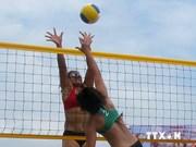 2014年全国海滩排球比赛决赛拉开序幕