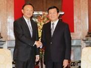 越南国家主席张晋创会见中国国务院国务委员杨洁篪