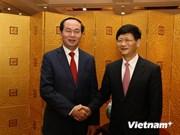 越南公安部长陈大光会见中共中央政法委书记孟建柱