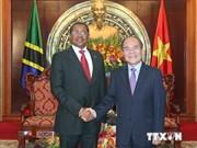 越南国会主席阮生雄会见坦桑尼亚总统