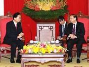 苏辉瑞同志会见日本前首相鸠山由纪夫