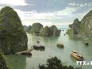 越南下龙湾图片、纪念品和越南世界遗产图片展举行
