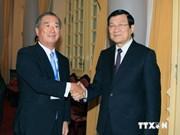 越南国家主席张晋创会见日本工商会代表团