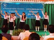 高棉越南新进友谊小学举办开学典礼