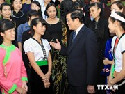 越南国家主席:学生们是少数民族地区的发展动力