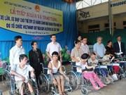 宜安省120名残疾儿童被赠送轮椅