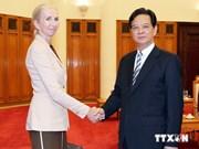 越南政府总理阮晋勇会见挪威驻越大使埃里克森