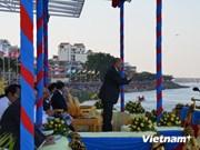柬埔寨传统划船大赛隆重举行