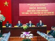 越南西北、西原、西南部三个指导委员会举行工作会议